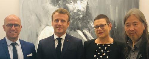 Emmanuel Macron célèbre Gustave Courbet