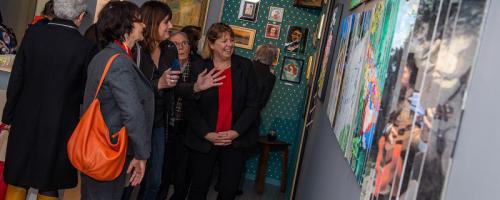 Les artistes du CCAS de Besançon exposent au musée Courbet