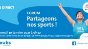 "Forum ""Partageons nos sports"" du 30 janvier 2021 retransmis en direct"